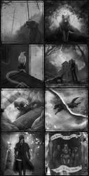 A Night in the Lonesome Inktober 3 by ViaEstelar
