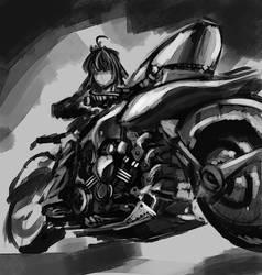 Saber bike figure by Renevatia