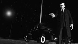 Mafia man in Sin City style