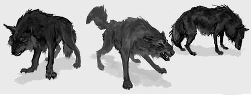 Wolves by KZBulat