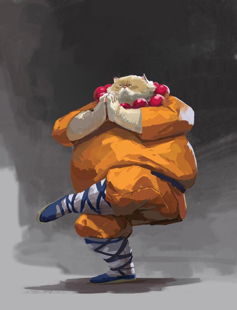 Fat cat by KZBulat