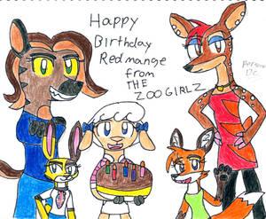The Zoo Girlz Birthday Gift To Redmange