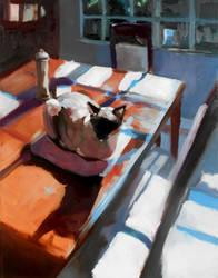 Breakfast Cat by OrcaOwl