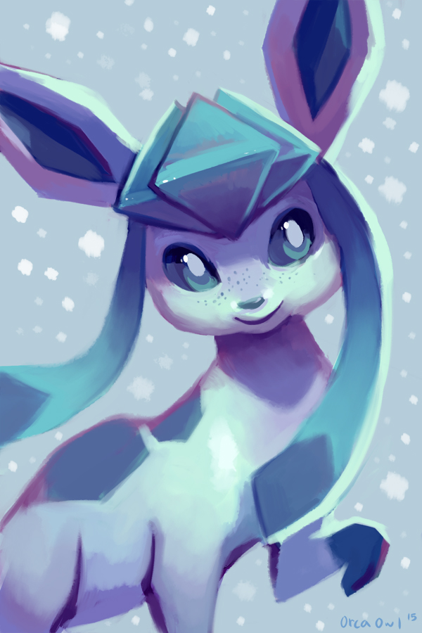 Glaceon by OrcaOwl