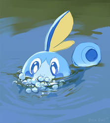 Sobble Used Bubble by OrcaOwl