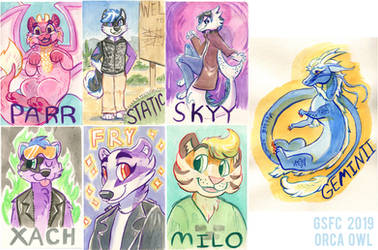 GSFC Watercolor Badges 2019 by OrcaOwl