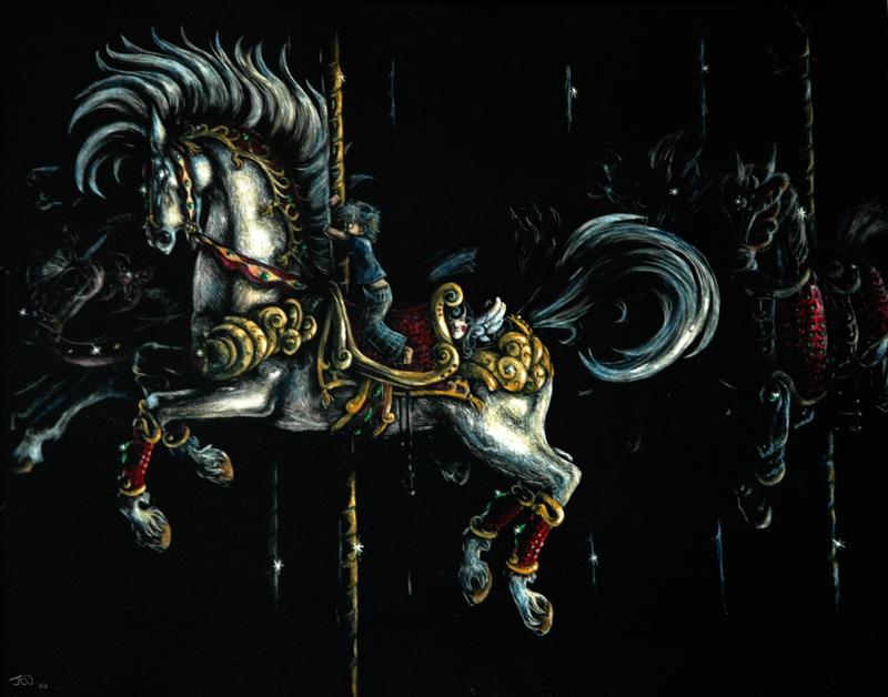 Night Time Carousel of Doom by Jay-bo