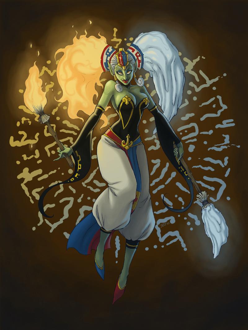 Sorceress Sisters Twinrova by Jay-bo