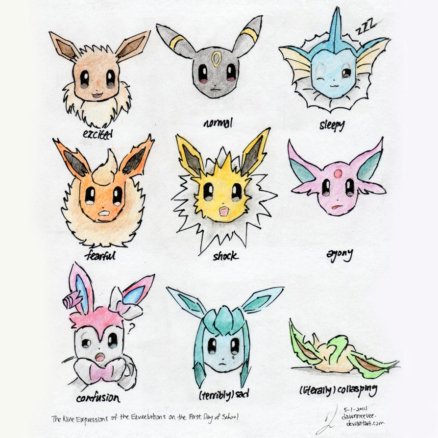 how to draw eevee evolutions in google