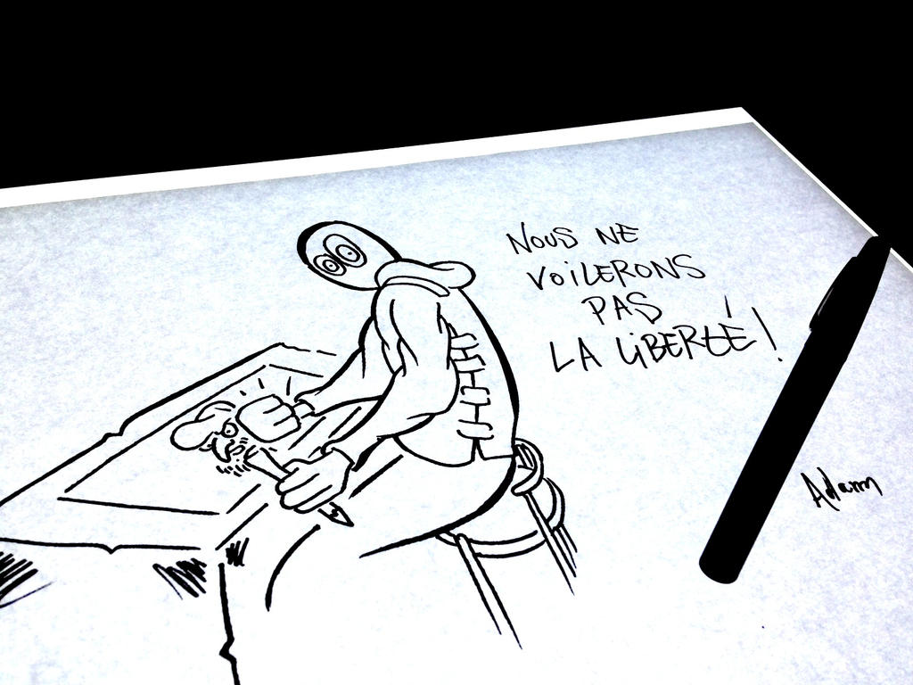 hommage pour Charlie Hebdo, je suis charlie by uzi-street