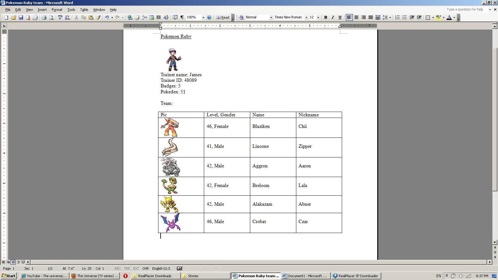 how to start again pokemon ruby
