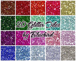 Glitter Tiles by Bluebirdofhappiness