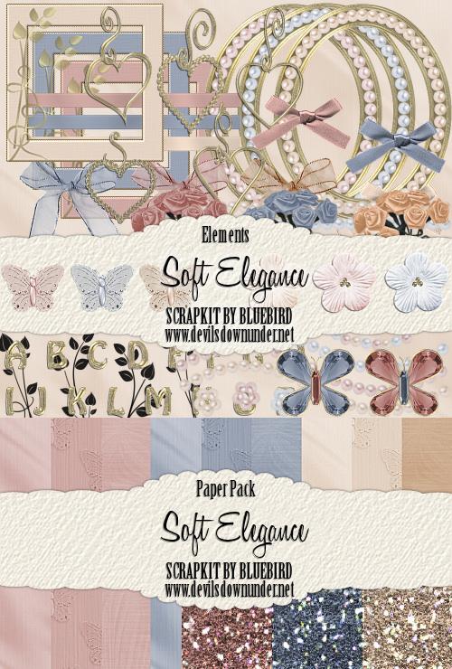 Soft Elegance Scrapkit by Bluebirdofhappiness