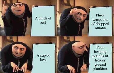 Gru discovers the krabby patty secret formula