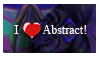 I Heart Abstract Stamp by GeekGod4