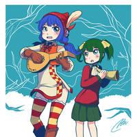 Nopan bard and a little girl