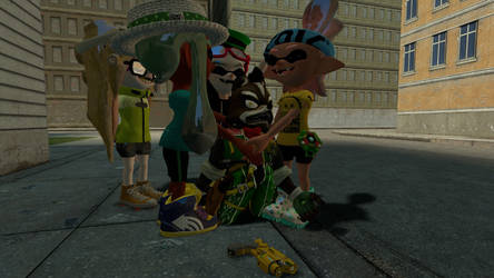 Akuago and the affectionate Inklings + Octoling