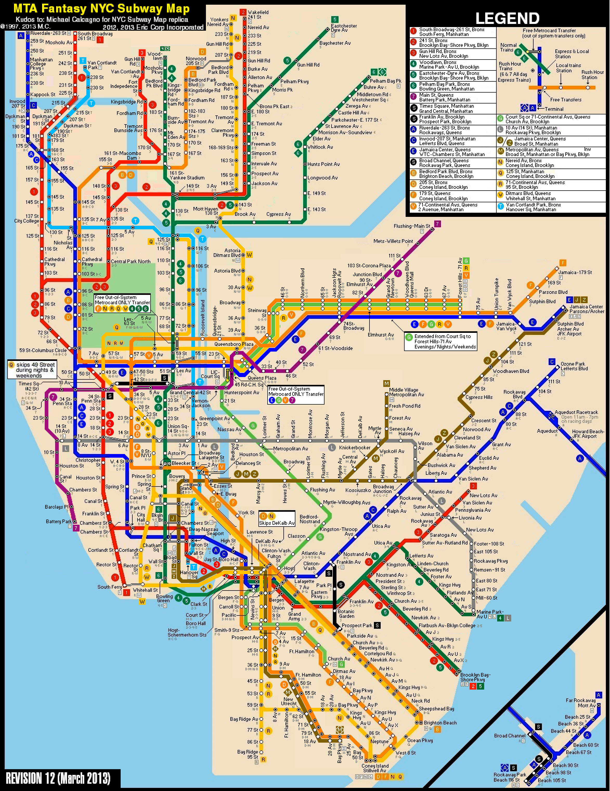 New york subway map 2 3 questions