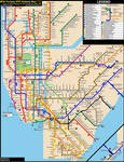 NYC Subway Fantasy Map (Revision 18: Late Nights)