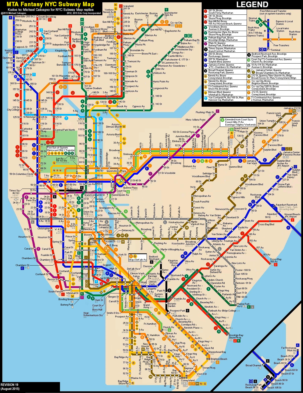 New York City Subway Fantasy Map Revision  By ECIncXXX On - Nyc subway map j train