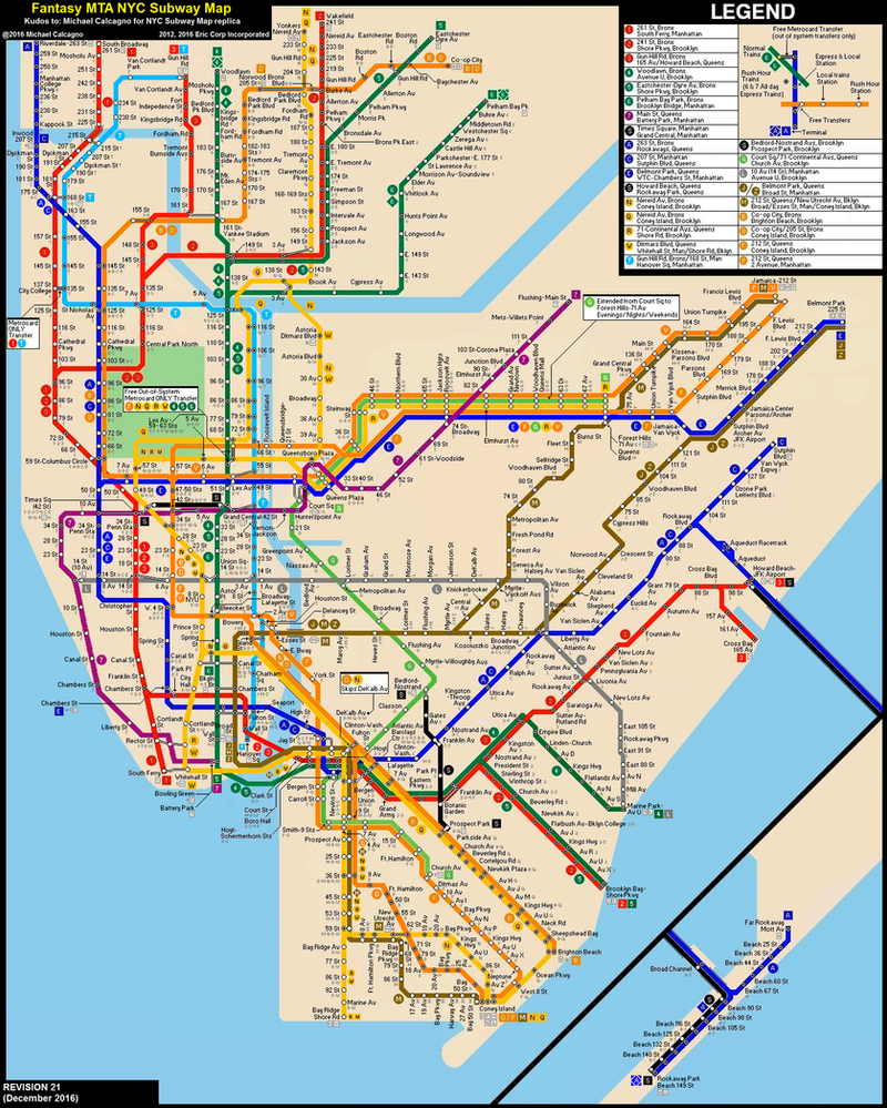 Subway Map 1 Train