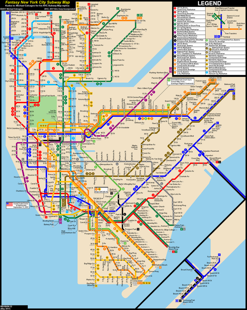 nyc subway fantasy map (revision ) by ecincxxx on deviantart - nyc subway fantasy map (revision ) by ecincxxx