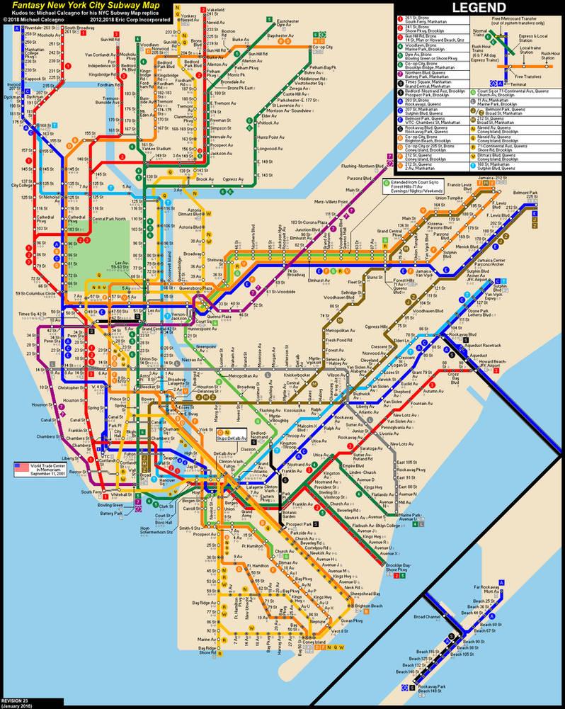 Subway Map Nyc 2012.Nyc Subway Fantasy Map Revision 23 By Ecinc2xxx On Deviantart