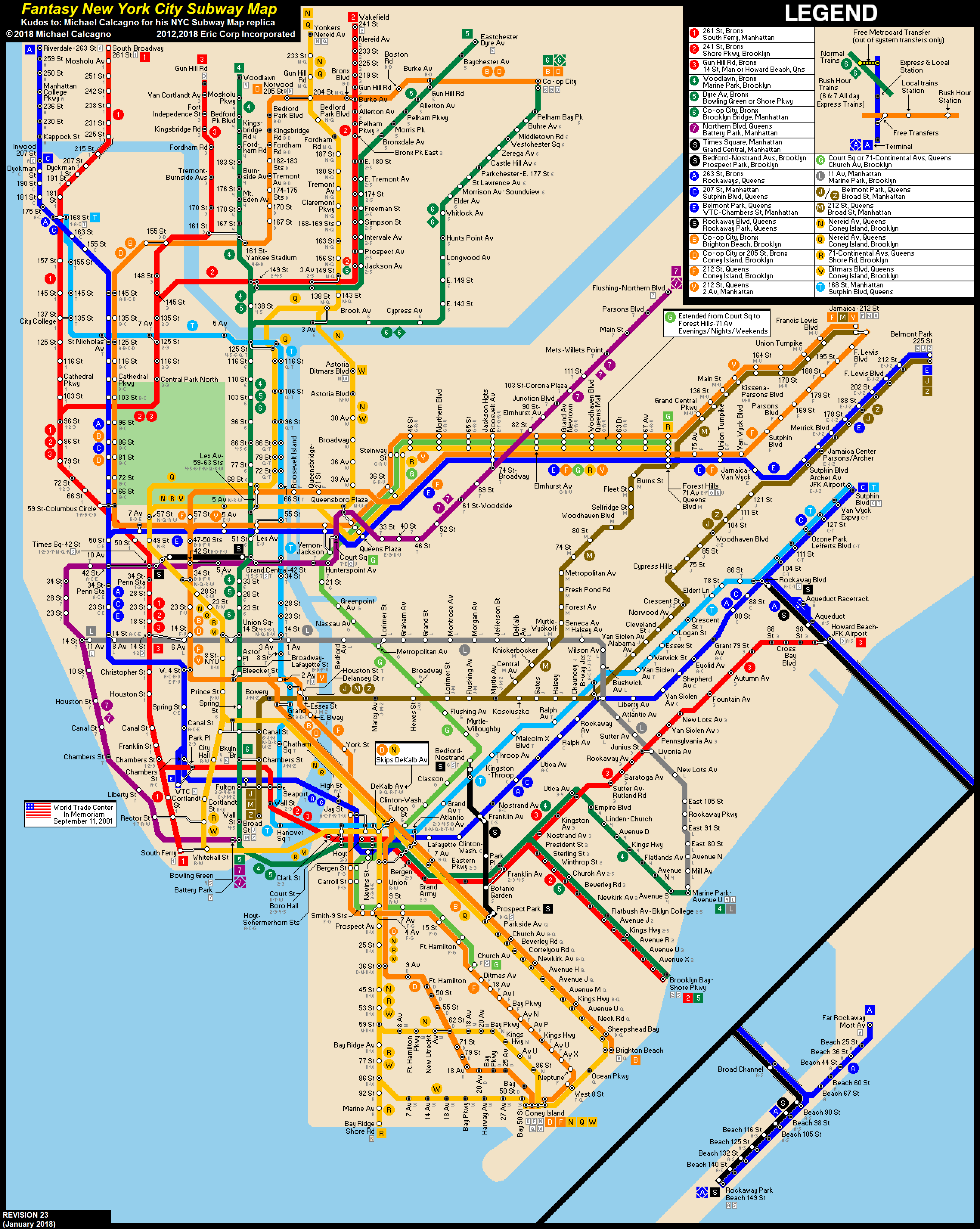 NYC Subway Fantasy Map (Revision 23) by ECInc2 on DeviantArt on brooklyn battery tunnel map, path map, lirr map, san francisco municipal railway map, nycta map, north railroad map, bus map, wmata map, amtrak map, septa map, metro map, central park map, nyc map, queens plaza map, nj transit map, new jersey transit map, marc map, cta map, mbta map, staten island map,