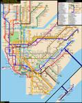NYC Subway Fantasy Map (Revision 24) by ECInc2XXX