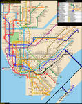 NYC Subway Fantasy Map (Revision 24: Late Nights) by ECInc2XXX