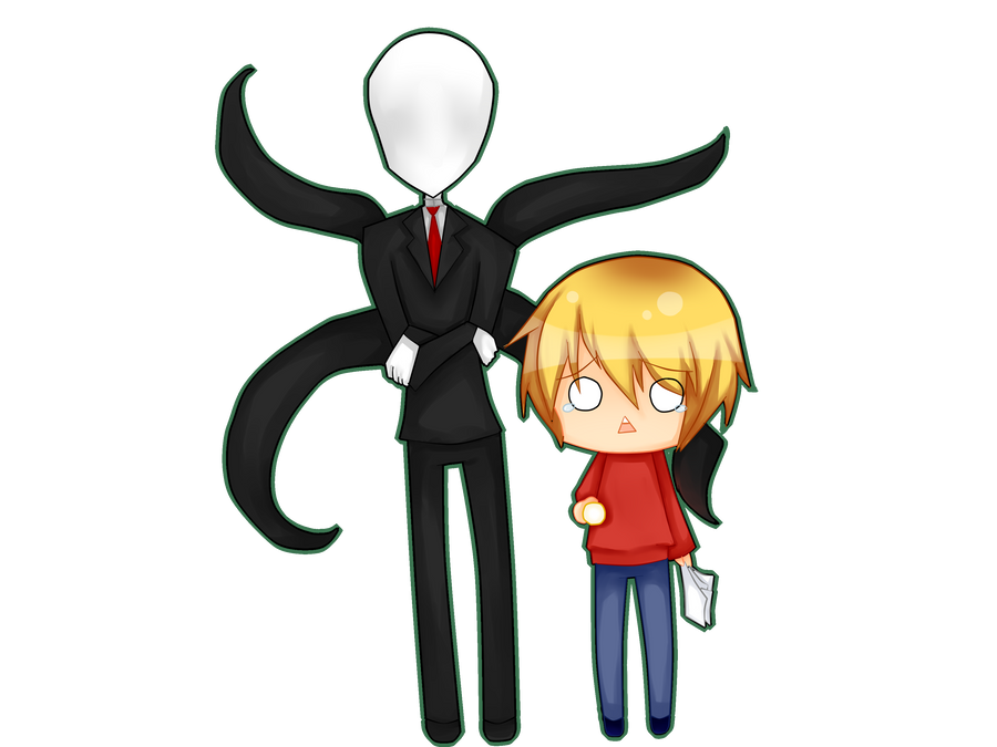 PewDiePie and Slendy by Neko-lolita-mimiko12