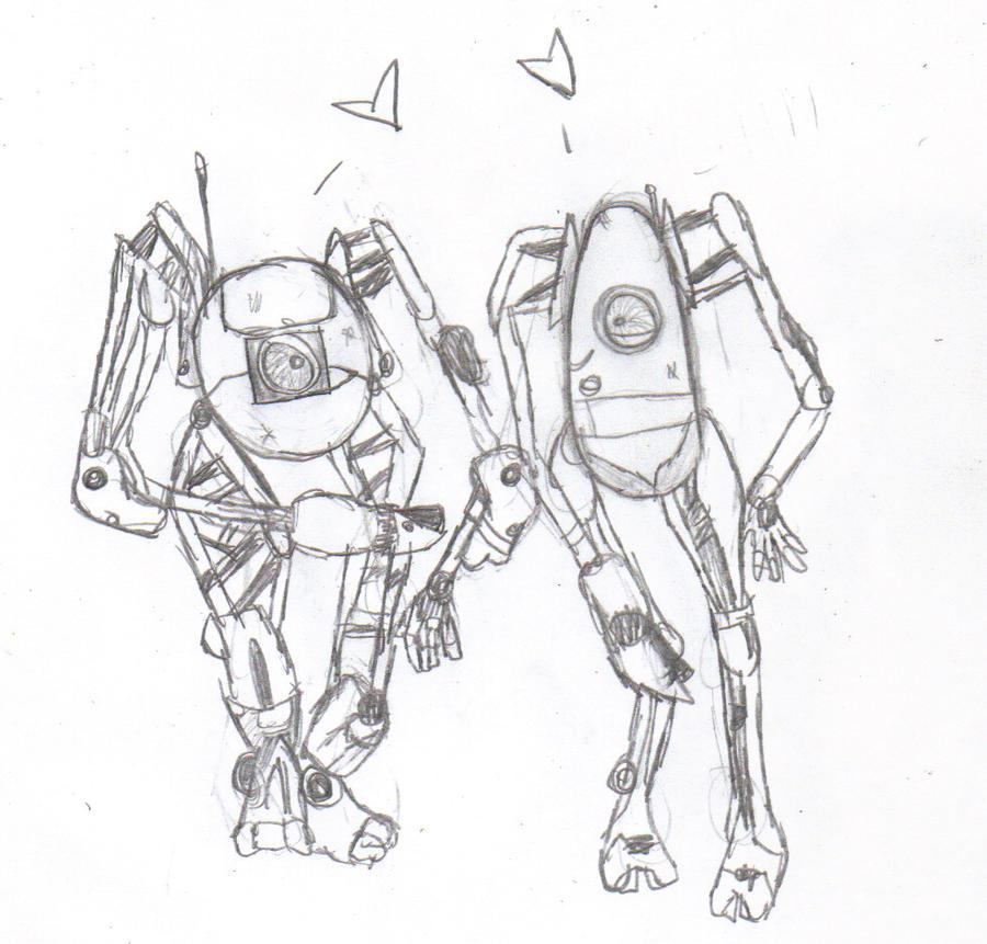 portal 2 robots hugging. portal 2 robots names. portal