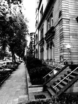 Street black and white