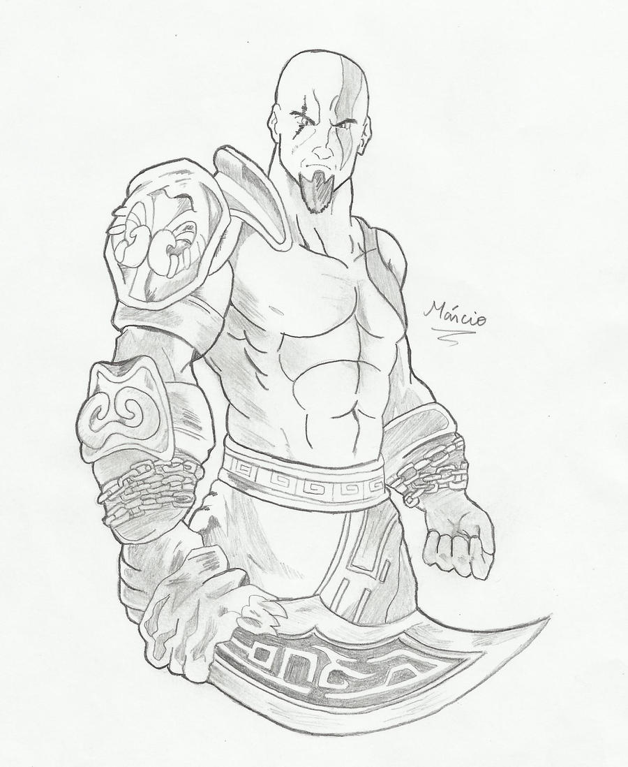 Kratos God Of War Drawings