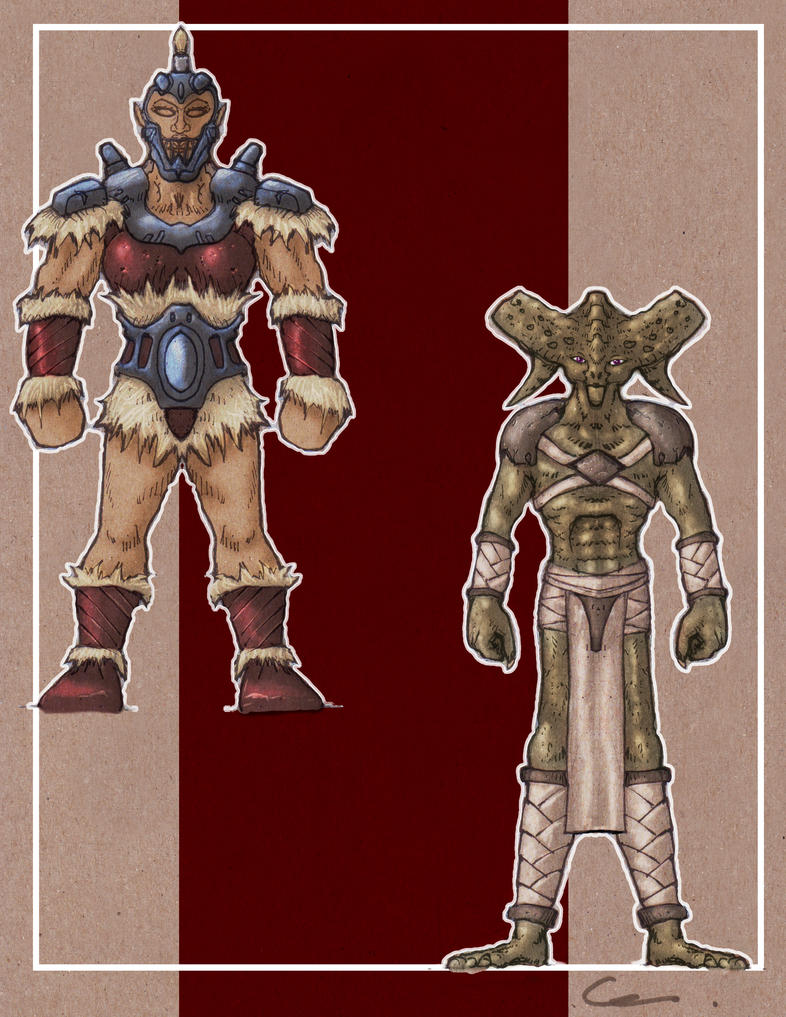Character Design Challenge Gladiator : Fantasy character designs non human gladiators by