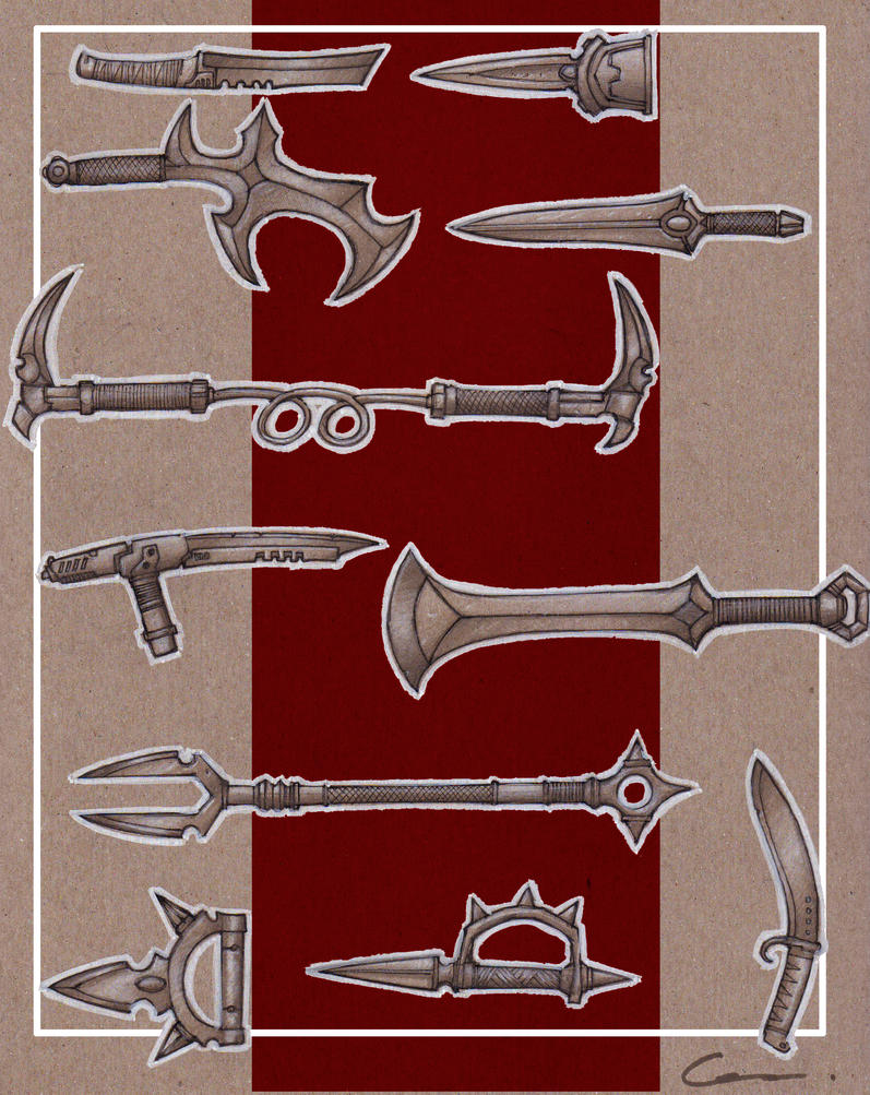 Fantasy Weapon Designs - Bladed Weapons by carlos1170 on ...