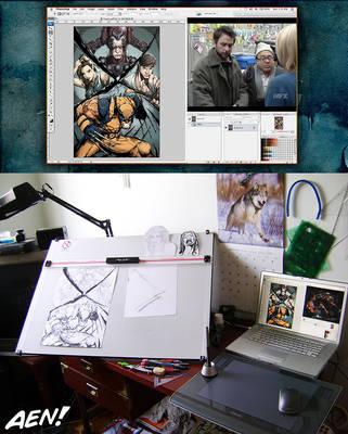Aen's Desk by AenTheArtist