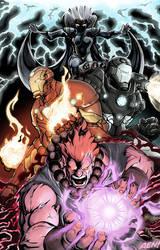 Marvel vs Capcom Poster 1 by AenTheArtist