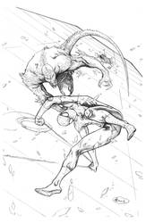 Spider-Man Commission - Pencils by AenTheArtist
