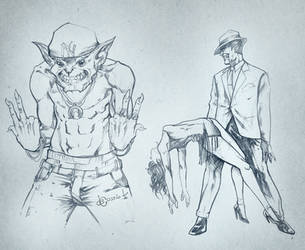 Sketchbook - Gobby G and Fred Astair Dracula by AenTheArtist