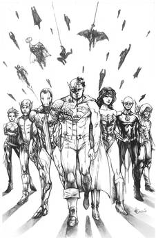 Commission - JLA/Avengers Commission