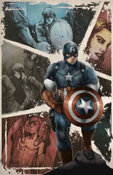 Commission -Captain America Poster by AenTheArtist