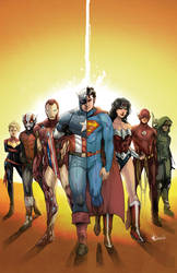 Commission - JLA / Avengers Poster (Colors)