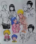 Naruhina + Boruto and Himawari by deadvampire32