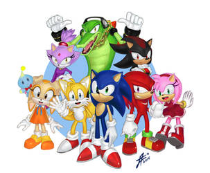 Sonic and friends by Tsukinopandaaa