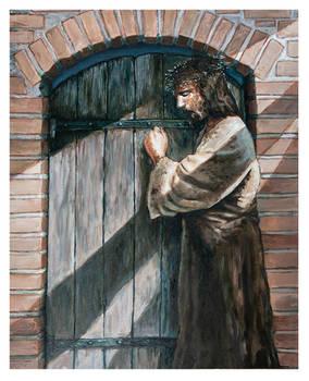 Jesus knocking.