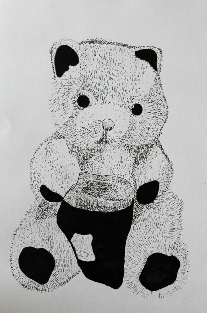 Marker-teddy by LemonicDemon