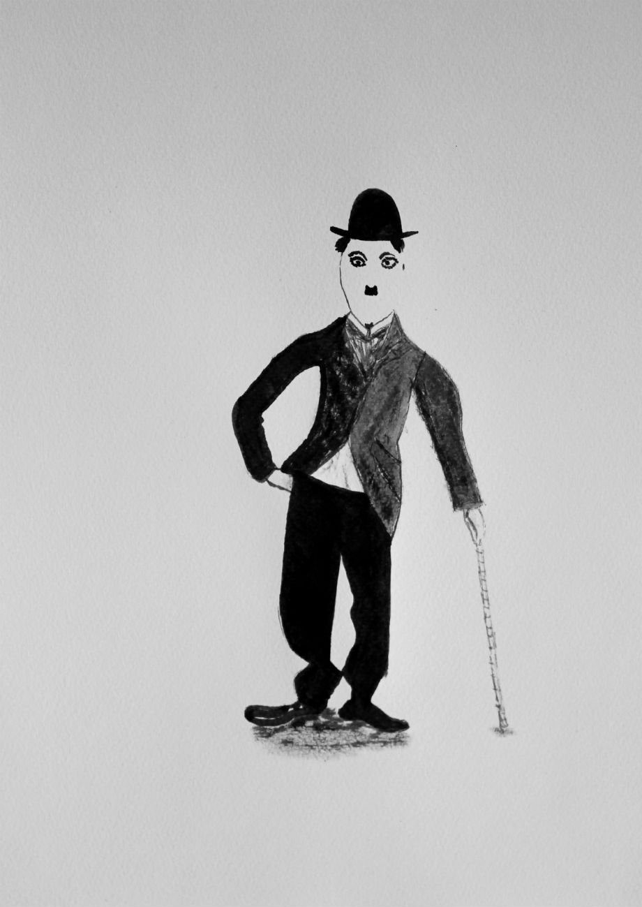 Charlie Chaplin in Ink by LemonicDemon