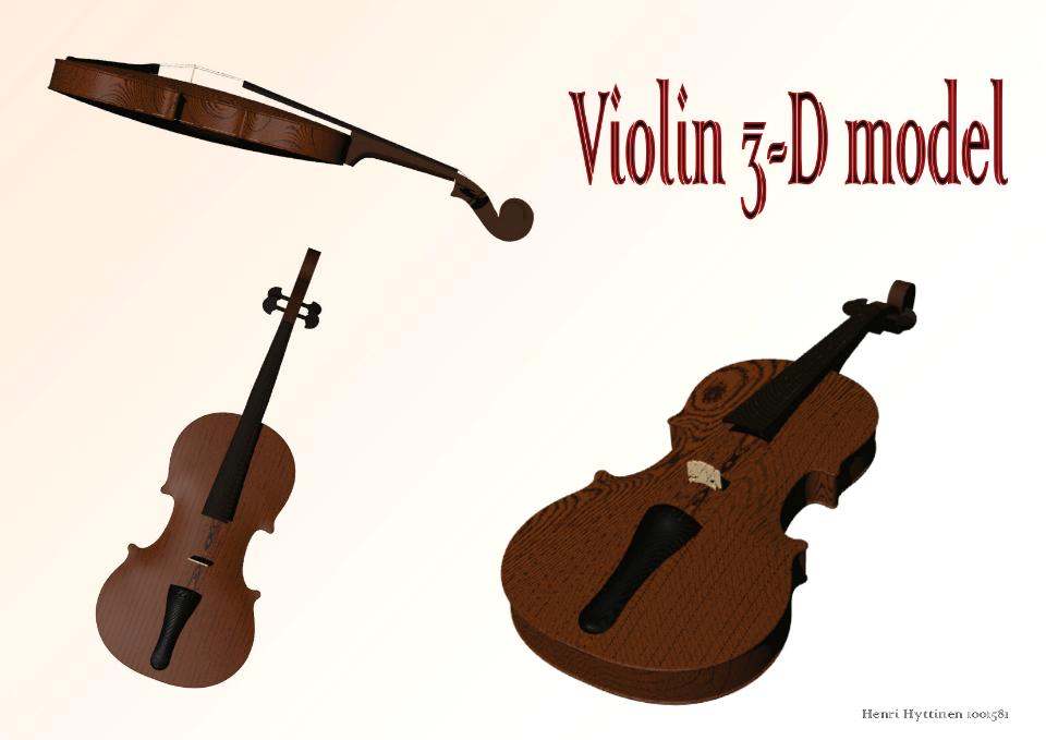 Violin 3D by LemonicDemon