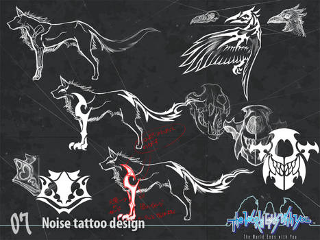 Noise tattoo design